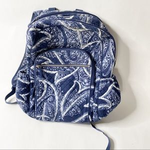 Vera Bradley Essential Large Backpack Blue Tapestr